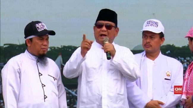 Prabowo menganggap media saat ini tidak jujur meliput gerakan umat dalam Reuni Aksi 212. Dia mempersoalkan jumlah massa yang tak diukur secara riil oleh media.