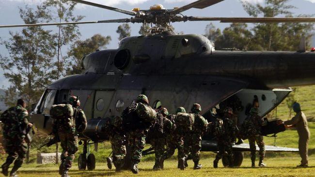 Satu anggota KKB dilaporkan tewas usai kontak tembak dengan anggota TNI di Kabupaten Intan Jaya, Papua, Kamis (4/2).