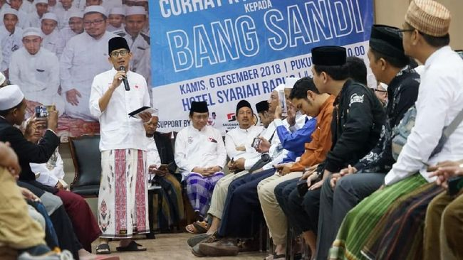 Sandiaga Janjikan One Kyai for One Center Enterpreneurship