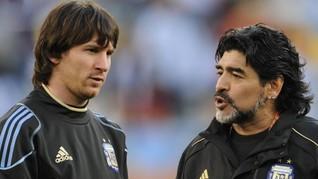 Cannavaro: Sering Dilanggar, Maradona Lebih Baik dari Messi