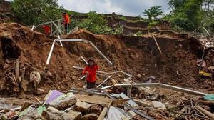 Empat Tewas Akibat Longsor di Sibolangit Deli Serdang Sumut
