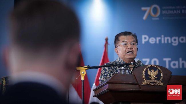 Wapres JK menyatakan pemerintah turut menjadi korban pelanggaran HAM, misalnya, dalam kasus penembakan pekerja proyek infrastruktur di Nduga, Papua.