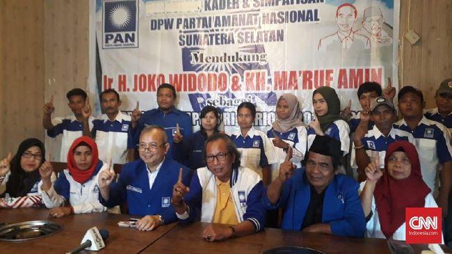 DPW PAN Sumsel mengaku 25 orang yang mengaku dari pihaknya dalam deklarasi mendukung Jokowi-Ma'ruf bukan kadernya, bisa jadi hanya simpatisan.