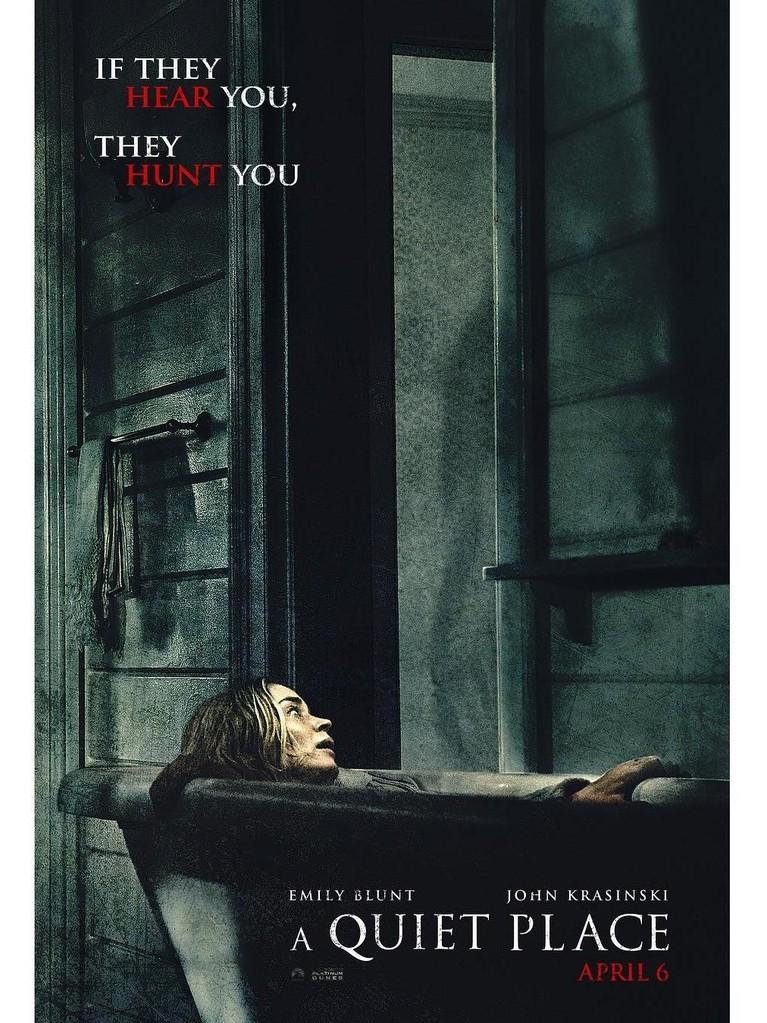 A Quiet Place. Film horor ini telah meraup untung sebesar Rp4,9 triliun. Film ini dibintangi oleh Emily Blunt, John Krasinski, dan Cade Woodward.