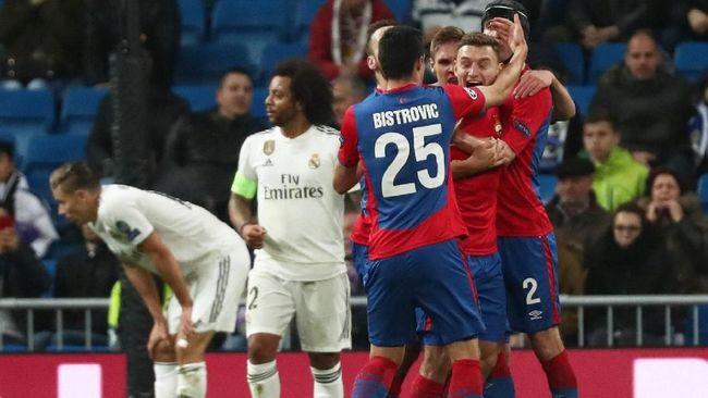 Real Madrid secara mengejutkan dipecundangi CSKA Moscow 0-3 pada laga terakhir Grup G Liga Champions di Stadion Santiago Bernabeu, Rabu (12/12) waktu setempat.