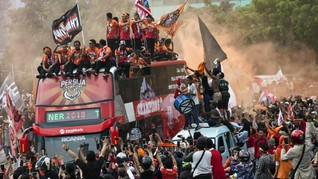 Polisi Usut Kerumunan Suporter Persija, Ada yang Bawa Ganja