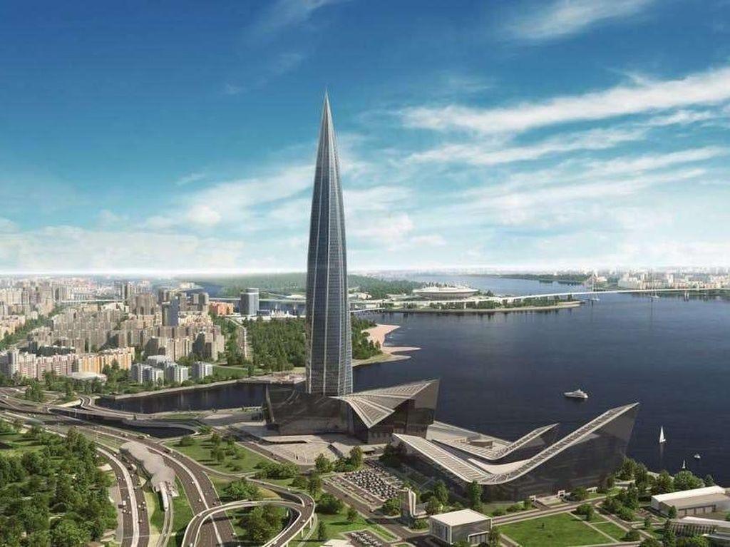 Gedung Tertinggi Eropa Ada di Rusia, Begini Wujudnya