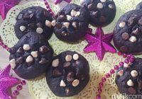 Resep Kue:  Chewy Double Chocolate Cookies