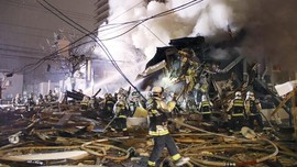 FOTO: Reruntuhan Pub di Sapporo yang Hancur karena Ledakan
