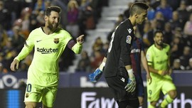 Gawang Levante Favorit Lionel Messi