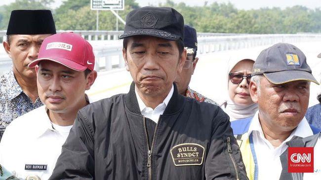 Jokowi mengatakan konteks ucapannya soal konflik agraria adalah hampir tak ada konflik lahan dalam pembebasan tanah untuk infrastruktur.