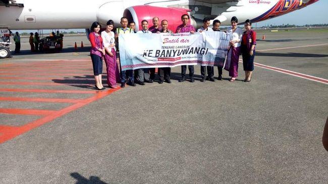Pada penerbangan pertama, Batik Air sukses tembus angka 156 penumpang alias terisi penuh.