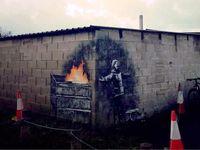 Grafiti Banksy Di Tembok Garasi Warga Inggris Terjual Rp 2,3 M
