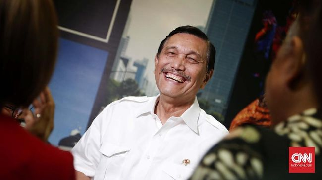 Luhut menyatakan Indonesia membuka peluang investasi dari berbagai negara, tidak hanya dari China. (CNN Indonesia/Harvey Darian).