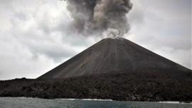 Gunung Anak Krakatau Erupsi, Tidak Terdengar Dentuman