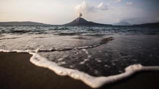 Erupsi Anak Krakatau Tak Picu Anomali Permukaan Air Laut