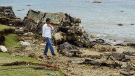 Awali 2019, Jokowi Tengok Korban Tsunami Lampung