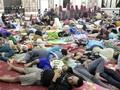 Pengungsi Tsunami Lampung Tinggalkan Posko di Kantor Gubernur