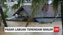 Usai Terjangan Tsunami, Labuan Banten Tergenang Banjir