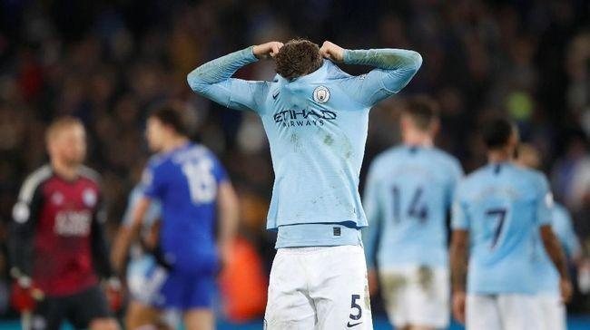 Sejumlah catatan penting tersaji pada Desember kelabu bagi Manchester City kalah dari Leicester City 1-2 di Liga Primer Inggris 2018/2019.