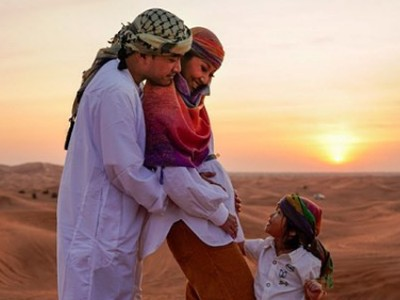5 Momen Ruben Onsu Seru-seruan Bareng Keluarga di Dubai