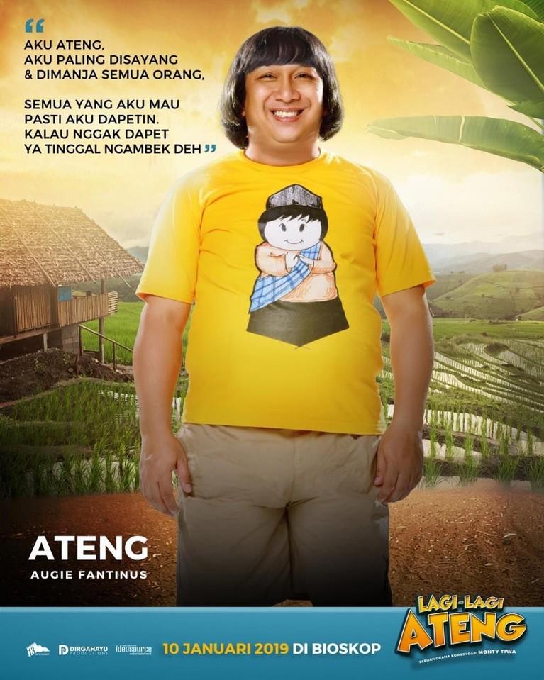 Pemeran utama dalam film ini yaitu Augie Fantinus yang berperan sebagai Ateng. Tokoh Ateng ini sangat dimanjakan oleh orang tuanya.