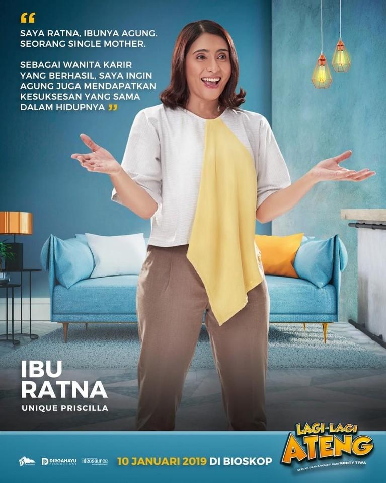 Yang terakhir ini adalah Ibu Ratna, yang diperankan oleh Unigue Pricilla. Seorang single mother yang ingin sang anak, Agung, memiliki kehidupan yang layak di masa mendatangnya.