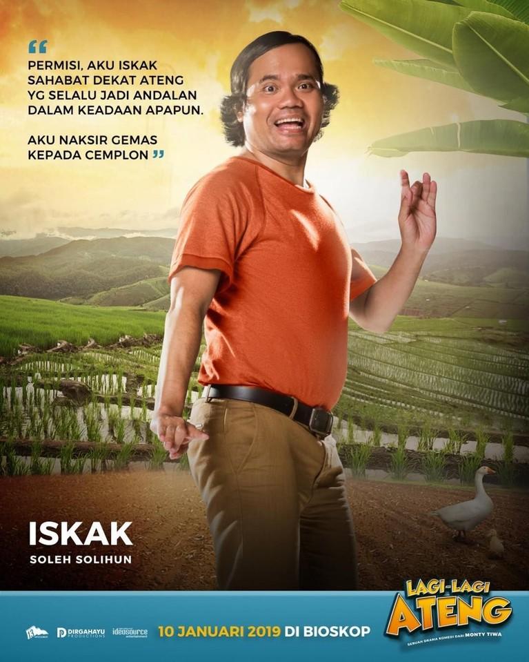 Ateng mempunyai sahabat dekat bernama Iskak, yang diperankan oleh Soleh Solihun.