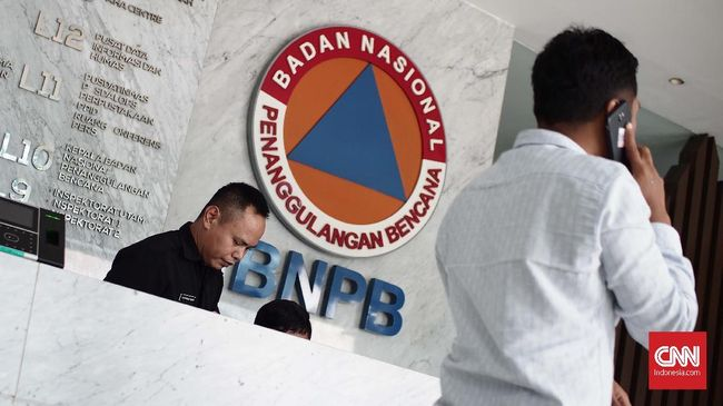 Foto Ilustrasi BNPB pada (02/01/2018). (CNN Indonesia/ Harvey Darian)