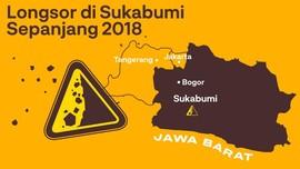 INFOGRAFIS: Longsor di Sukabumi Sepanjang 2018