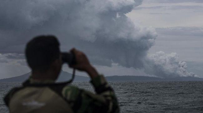Sejak Minggu Gunung Anak Krakatau Alami 46 Kegempaan Letusan