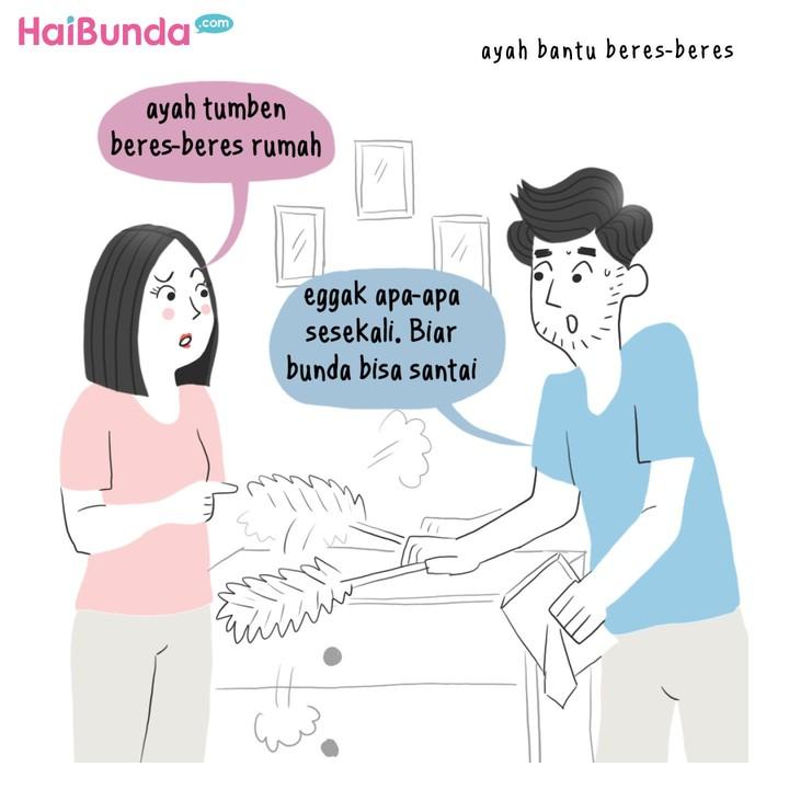 Apa hal simpel yang ampuh bikin Bunda happy? Samakah dengan Bunda di komik ini?