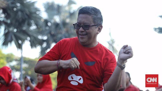 Sekjen PDIP Hasto Kristiyanto yakin Mbah Moen dukung Jokowi karena Taj Yasin Maimoen, anak Mbah Moen, merupakan tokoh yang dicalonkan PDIP di Pilkada Jateng.