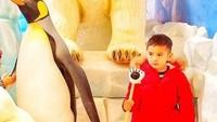 <p>Hebat nih si Aa, nggak takut foto bareng beruang kutub dan pinguin. Ha-ha-ha. Jelas saja ya, Bun, karena yang di samping itu cuma patungnya saja. (Foto: Instagram @raffinagita1717)</p>