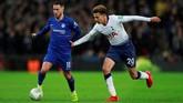 Tottenham Hotspur menang 1-0 atas Chelsea di leg pertama semifinal Piala Liga Inggris di Stadion Wembley, Selasa (8/1), berkat gol kontroversial Harry kane.