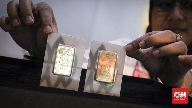 Harga emas naik Rp2.000 ke Rp932 ribu per gram pada perdagangan Kamis (24/6).