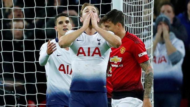 Statistik ciamik kemenangan Manchester United atas Tottenham Hotspur 1-0 dan kesialan Harry Kane yang mencetak tujuh tembakan tanpa berbuah gol.