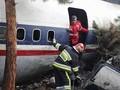 FOTO: Duka Usai Pesawat Kargo Jatuh di Iran