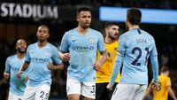 Hasil Liga Inggris: City Gilas 10 Pemain Wolves 3-0