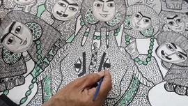 FOTO: Menjaga Seni Lukis Mesir dari Bahan-bahan Alam