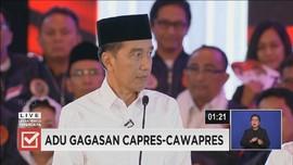 VIDEO: Pesan Terakhir Jokowi dalam Debat Capres Perdana