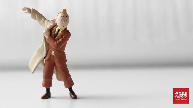 Tokoh sentral Petualangan Tintin. CNNIndonesia/Safir Makki