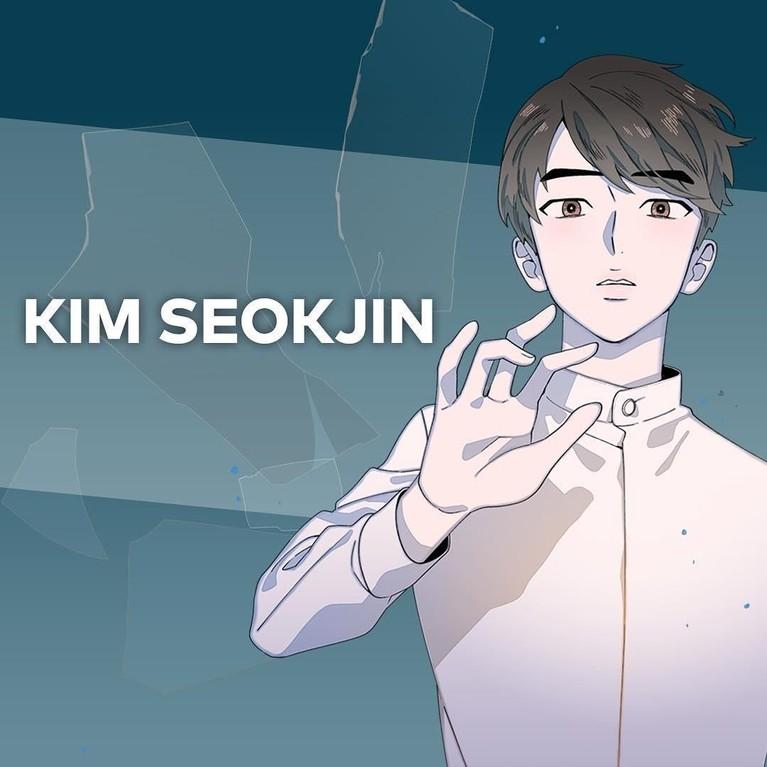 Kim Seok Jin. Personel tertua di BTS ini akan ditunjuk sebagai pemeran utama. Ia berteman dengan enam personel lain sejak Sekolah Menengah Atas.