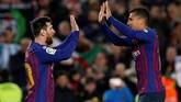 Barcelona lolos ke perempat final Copa del Rey setelah menang 3-0 atas Levante, namun terancam didiskualifikasi setelah menurunkan pemain tidak sah.