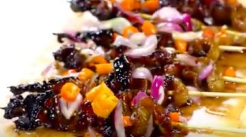 Resep Sate Kulit Ayam Cabe Dower, Pedasnya Mantap Betul