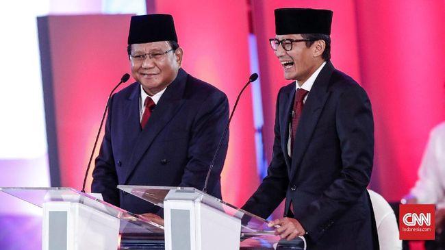 Meski tak diwajibkan hadir, cawapres Sandiaga Uno disebut akan mendampingi capres Prabowo Subianto dalam debat kedua Pilpres 2019, 17 Februari.