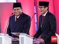 Prabowo Pesan 'Be Yourself' ke Sandi Hadapi Debat Cawapres