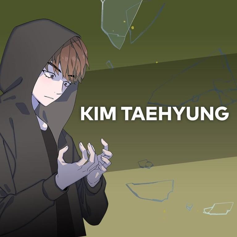 Kim Taehyung. Bersama saudara perempuannya, Taehyung dikisahkan selalu mendapatkan perlakuan kasar dari sang ayah.
