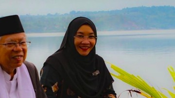 Sosok Tak Banyak Bicara, Potret Ma'ruf Amin Bersama Sang Istri