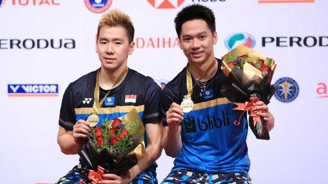 Kevin Sanjaya/Marcus Gideon, mengaku menikmati permainan dan bermain tanpa tekanan saat mengalahkan Ong Yew Sin/Teo Ee Yi di final Malaysia Masters 2019.
